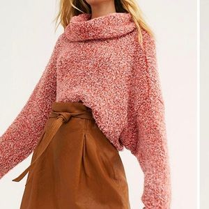 FREE PEOPLE - BFF SWEATER IN RED LOTUS NTW